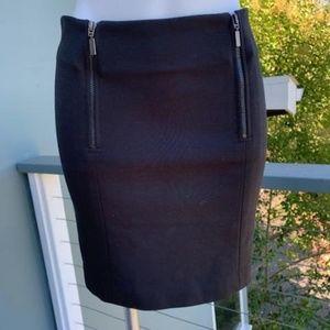 BCBGeneration double zipper skirt in black. Size 8